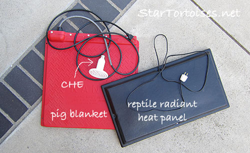 heaters for tortoises - The heated area should be at least as large as the tortoise's shell.