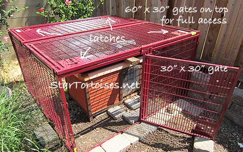 predator proof night protection cage for tortoises, Lucky Dog Animal House