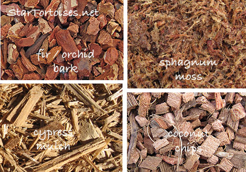 substrates - fir / orchid bark, cypress mulch, coconut husk chips, sphagnum moss