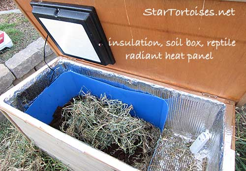 heated and insulated tortoise house